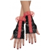 Glovettes Roughed Red And Black Adult